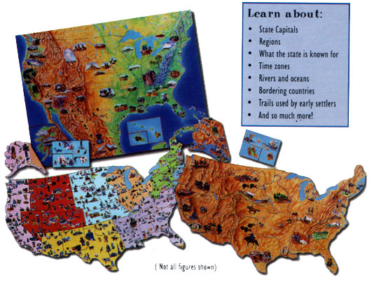 United States Map Felt Board