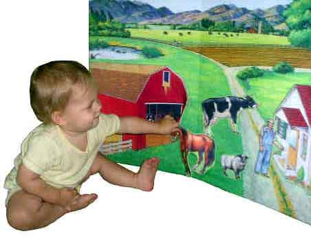 Baby with Farm Feltboard