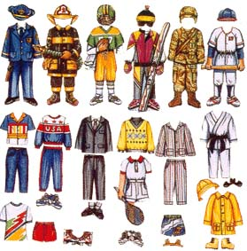Boy Paper Doll Clothes