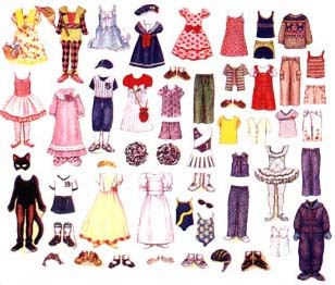 Girl Paper Doll Clothes