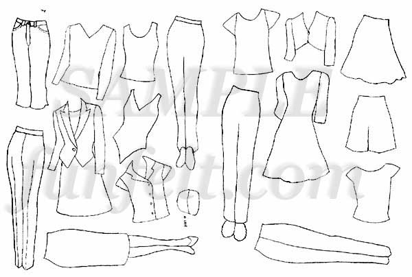 Fashion Doll Coloring