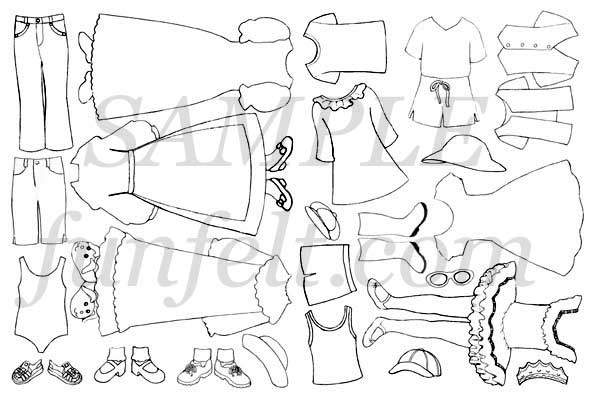 Color My Own Doll Clothes
