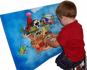 Boy with Pirate Felt Board