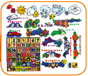 Spanish Calendar Felt Board Wall Hanging