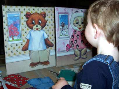 Boy with Dress Up Bear Felt Boards