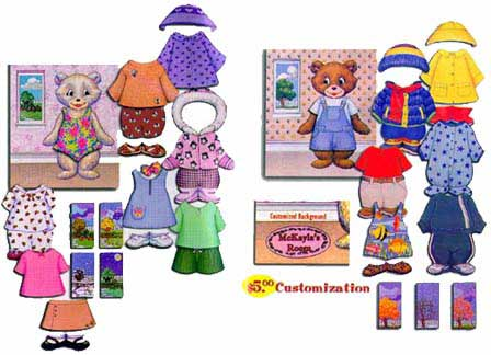 Dress Up Bears Felt Boards