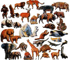 Wild Animal Felt Board Figures